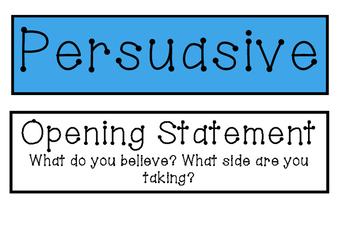 Persuasive Writing Tags