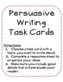 Persuasive Writing Task Cards