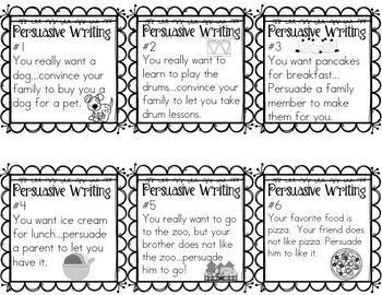 persuasive writing prompt cards for grades 1 2 by sunshine and lollipops. Black Bedroom Furniture Sets. Home Design Ideas