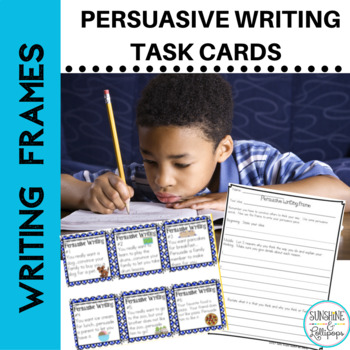 Persuasive Writing Task Cards with Prompts for Grades 1-2