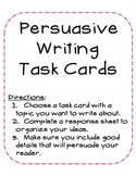 Persuasive Writing Task Cards