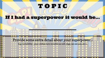 "Persuasive Writing Template - ""Which superpower would you choose?"""