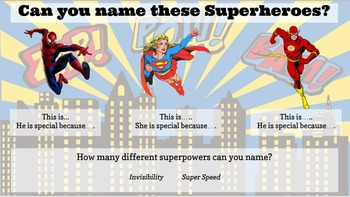 "Persuasive Writing Template - ""Which superpower would you"