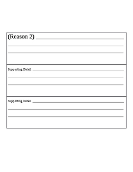 Persuasive Writing Template with Supporting Details