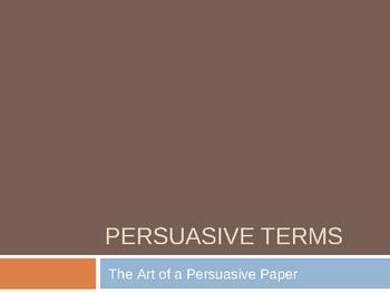 Persuasive Writing Terms