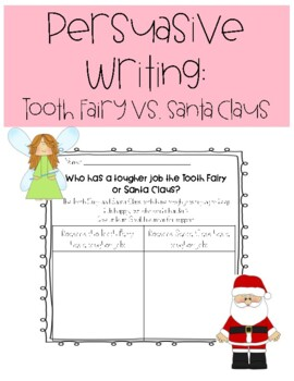 Persuasive Writing: Tooth Fairy vs. Santa Claus