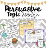 Persuasive Writing Topic Bundle NAPLAN Prep