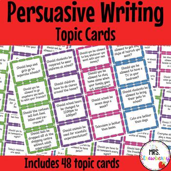 Persuasive Writing Topic Cards