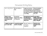Persuasive Writing Topics