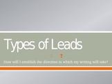 Persuasive Writing. Types of Leads/ Hooks
