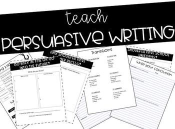 Persuasive Writing Unit - Completely editable