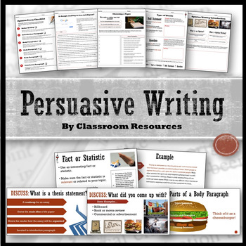 Persuasive Writing Unit FREE sample lessons
