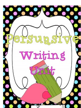 Persuasive Writing Unit Flipchart