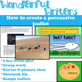 Persuasive Writing Unit: Leaflets
