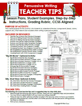Persuasive writing unit by wise guys teachers pay teachers persuasive writing unit spiritdancerdesigns Images