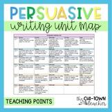 Persuasive Writing Unit Map