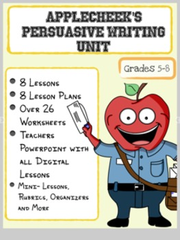 (Sale) Persuasive Writing Unit NO PREP (Lesson Plans and Powerpoint Included)
