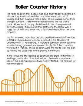 Persuasive Writing Unit - Design a Roller Coaster and Write a Persuasive Ad