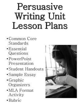 Persuasive Writing Unit Plans