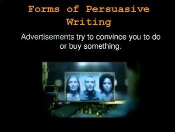 Persuasive Writing Introduction Presentation