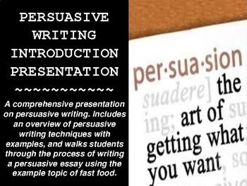 Persuasive Writing Unit Powerpoint