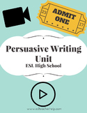 Persuasive Writing Unit for ESL High School