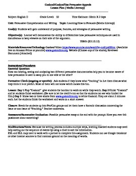 Persuasive Writing Using Media - Gasland