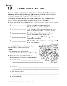 Persuasive Writing: Verbs: Agreement with Subject