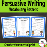 Persuasive Writing Vocabulary Posters