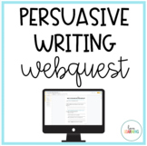 Persuasive Writing Webquest: Perfect for Distance Learning