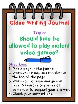 Whole Class Journal Covers- Persuasive Writing