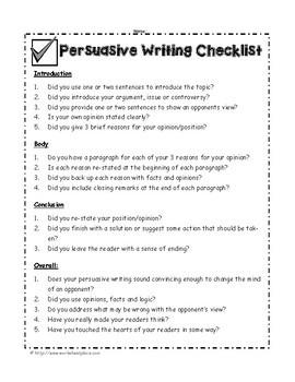 Persuasive Writing Packet and Teaching Ideas
