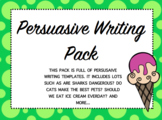 Persuasive Writing Template - Lots to choose from!!