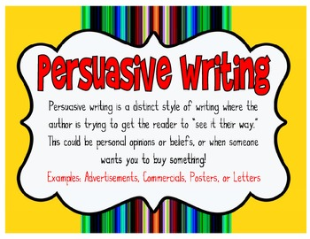 Persuasive Writing Workshop Unit