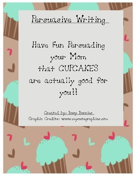 Persuasive Writing - food groups