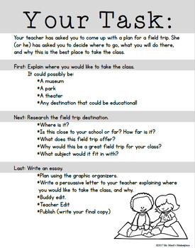 Persuasive Writing for Grades 3-4: Take Me on a Field Trip, PLEASE!