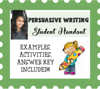 Persuasive Writing for High School Students, grade 9 - 12
