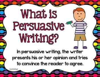 Persuasive essays for kids