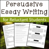 Persuasive Essay Activities for Reluctant Writers