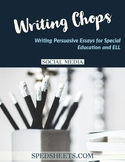 Persuasive Writing for Special Ed - Writing Chops: Social Media