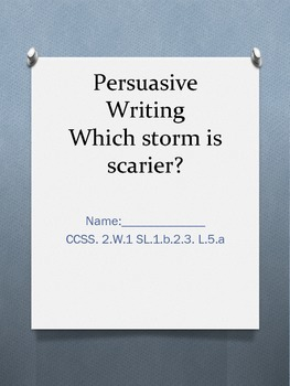 Persuasive Writing on Storms