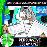 Persuasive Writing Graphic Organizer   Dog Facts   Distance Learning