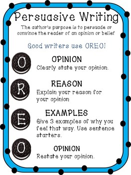 Persuasive Writing Anchor Chart Worksheets & Teaching Resources | TpT