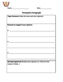 Persuasive Writing=Graphic Organizer CCSSW.1