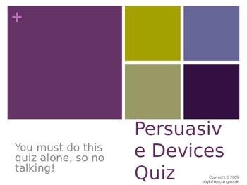 Persuasive devices quiz