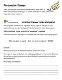 Persuasive essay explanation and rubric
