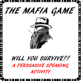 Persuasive speaking activity/game - The Mafia Game