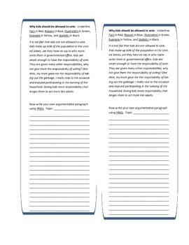 Persuasive strategies: ID and write them!