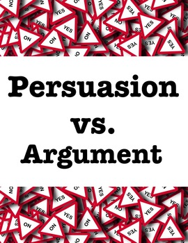 Persuasive vs. Argumentative: Comparing and Contrasting with Advertisements