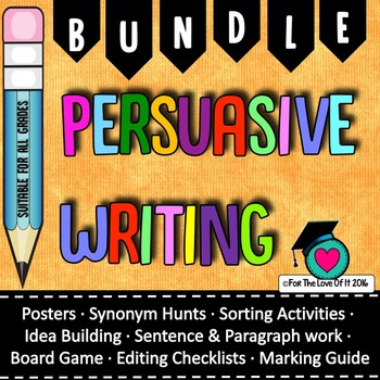 Persuasive writing Bundle 6 of my most popular items for one price!